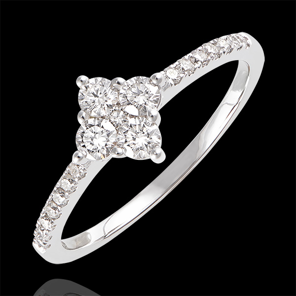 Freshness Ring - Dina - white gold 9 carats and diamonds