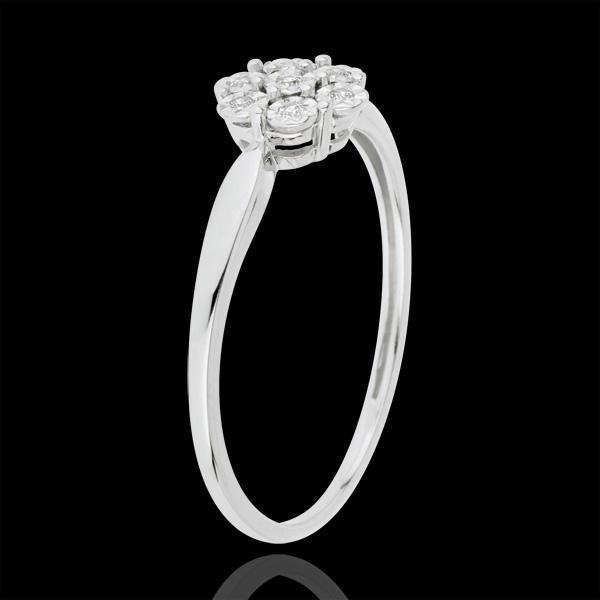 Freshness Solitair Ring - Flower Snowflake - 7 diamonds