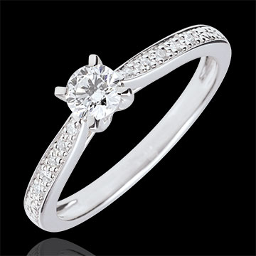 Garlane Solitaire Ring with 4 claws - 0.25 carat - 18 carats