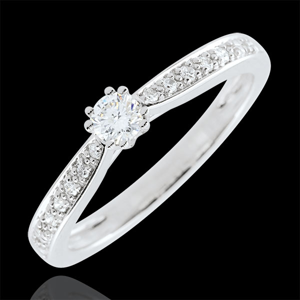 Garlane Solitaire Ring with 8 claws - 0.15 carat - 18 carats