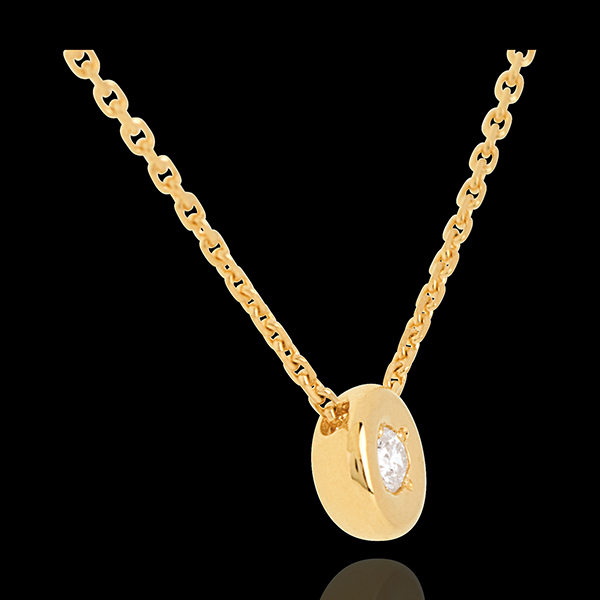 Gold Collier Kelch mit Diamanten