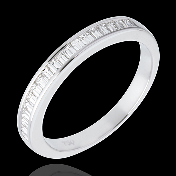 Half eternity ring white gold channel setting - 0.3 carat