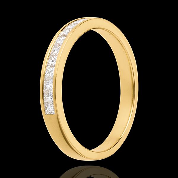 Half eternity ring yellow gold semi-pave channel setting - 0.31 carat - 11 diamonds