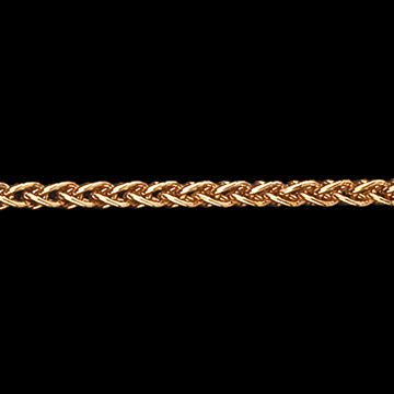 Zopfkette Gelbgold - 42 cm - 375