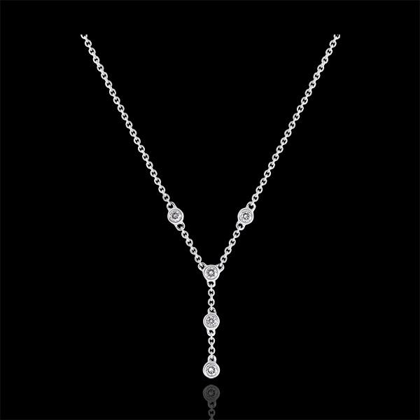 Halskette Frische - Grazie - 9 Karat Weißgold und Diamanten
