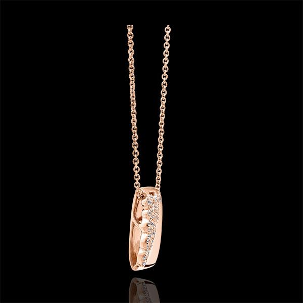Halskette Schicksal - Constance - 9 Karat Roségold und Diamanten