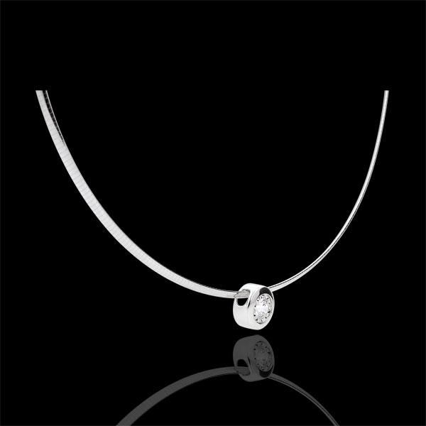 Halsketting 18 karaat witgoud Diamanten
