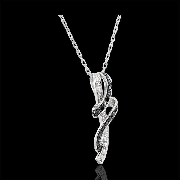 Halsketting Chiaroscuro- Rendez-vous - 9 karaat witgoud, zwarte Diamant