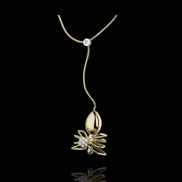 Halsketting Dagdromen - Koningin der Spinnen - 18 karaat geelgoud met Diamanten