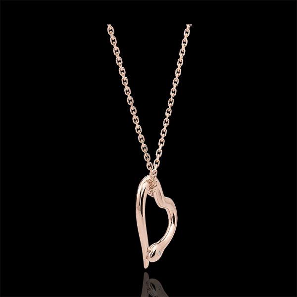 Halsketting Dagdromen - Slang van de Liefde - klein model - 9 karaat rozégoud met diamant