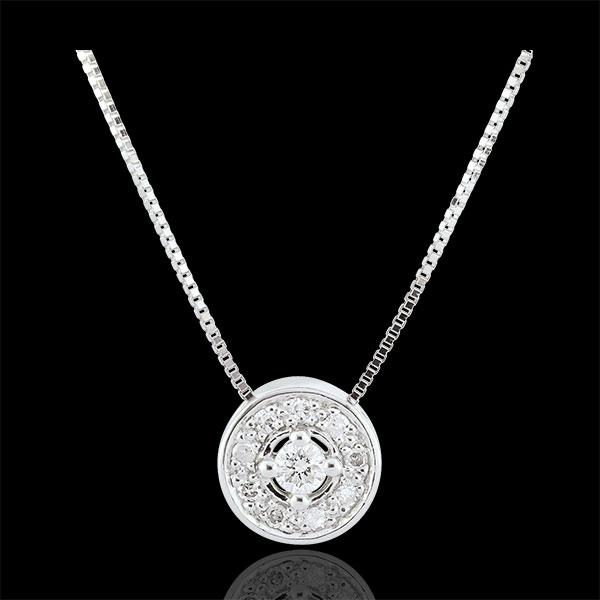 Halsketting Destiny Diamant - Ludmila - 9 karaat witgoud