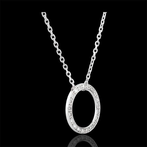 Halsketting Elisée - 21 Diamanten - 9 karaat witgoud