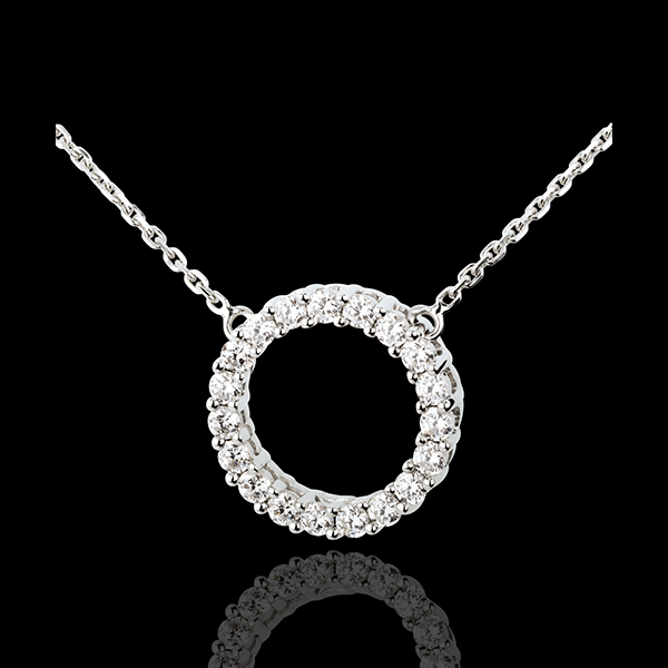Halsketting Firmament 18 karaat witgoud - 0.75 karaat - 19 Diamanten