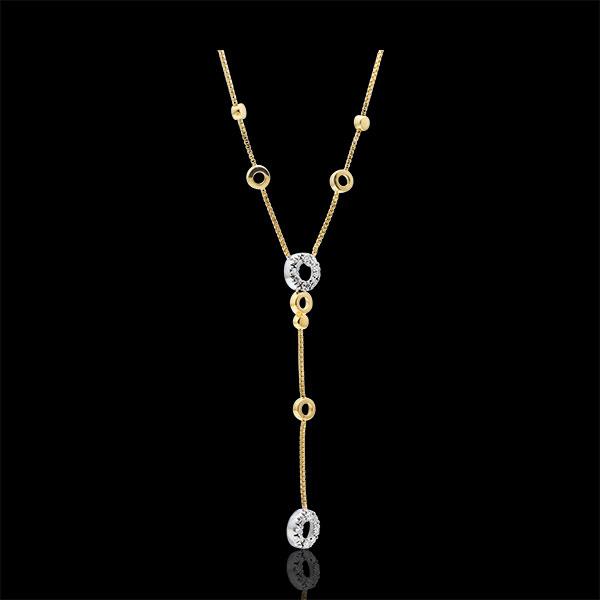 Halsketting Graziella - 9 karaat witgoud en geelgoud