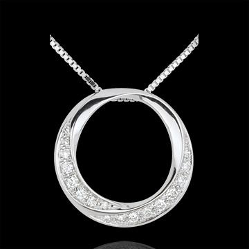 Halsketting Lady 18 karaat witgoud met diamant