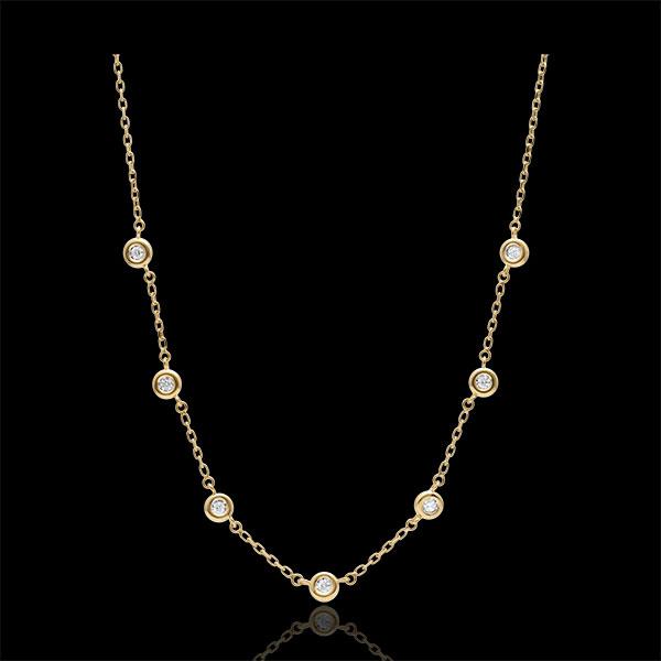 Halsketting Union Diamant - 9 karaat witgoud