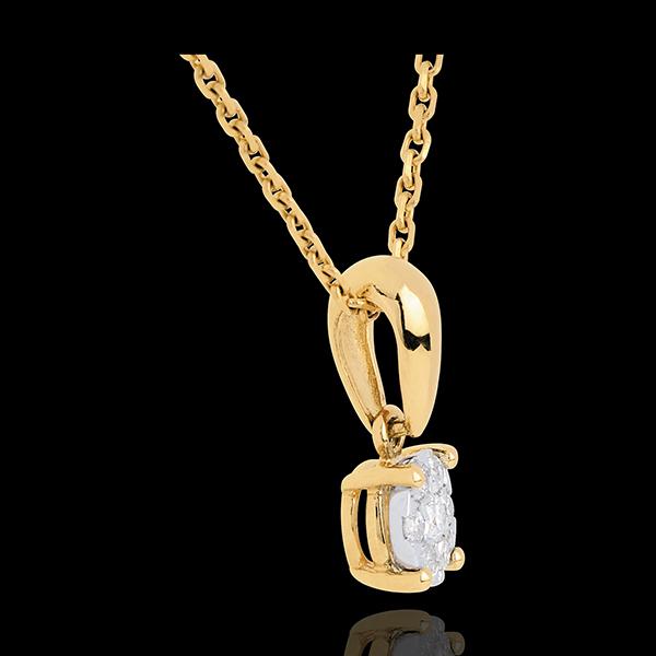 Hanger 18 karaat geelgoud bezet Ram - 0.14 karaat - 7 Diamanten