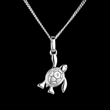 Babyschildpad - klein model - wit goud