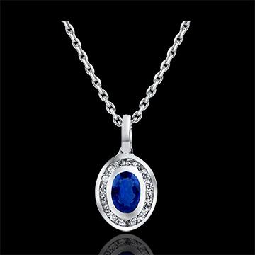 Hanger Overvloed - Clelia - 9 karaat witgoud met diamanten