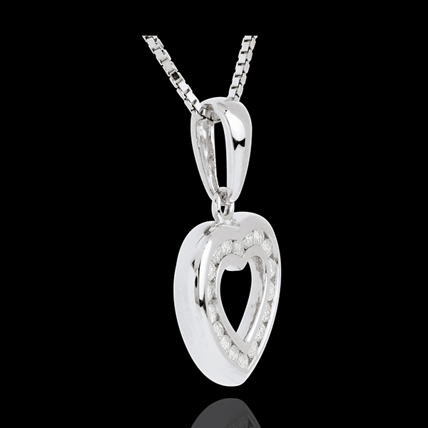 Heart drop paved - 0.25 carat - 18 diamonds