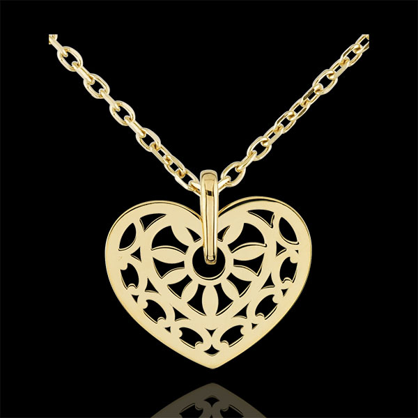 Heart-shaped Love Charm Pendant