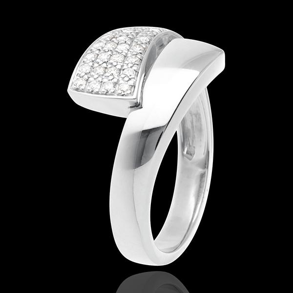Hemisphere ring white gold paved - 0.26 carat - 34diamonds
