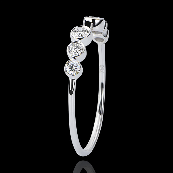 Inel Abundenţă - Aninare - aur alb 9K şi diamante