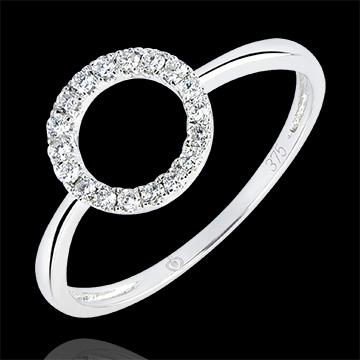 Inel Abundenţă- Atitudine - aur alb 9K şi diamante