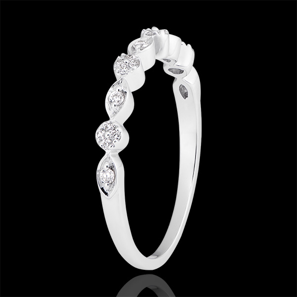 Inel Canafuri - aur alb de 18k și diamante