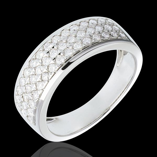 Inel Constelaţie - Astrală - model mic - aur alb de 18K pavat - 0.63 carate - 45 diamante