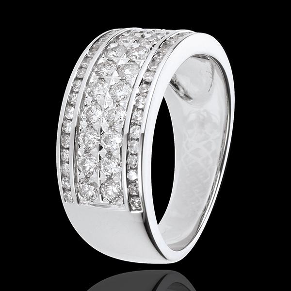 Inel Constelaţie - Cosmos - 62 diamante - aur alb de 18K