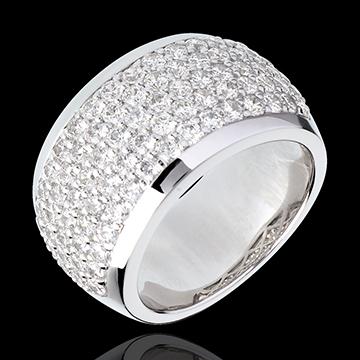 Inel Constelaţie - Peisaj Celest - aur alb de 18K pavat- 2.05 carate - 79 diamante