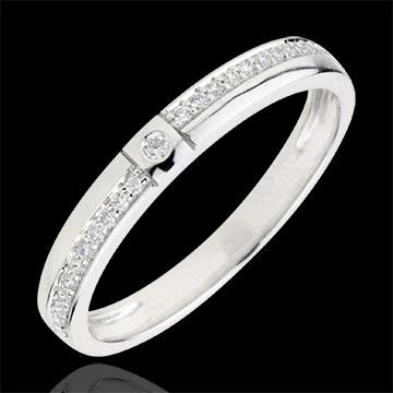 Inel cu diamante O mie de Minuni - aur alb de 18K