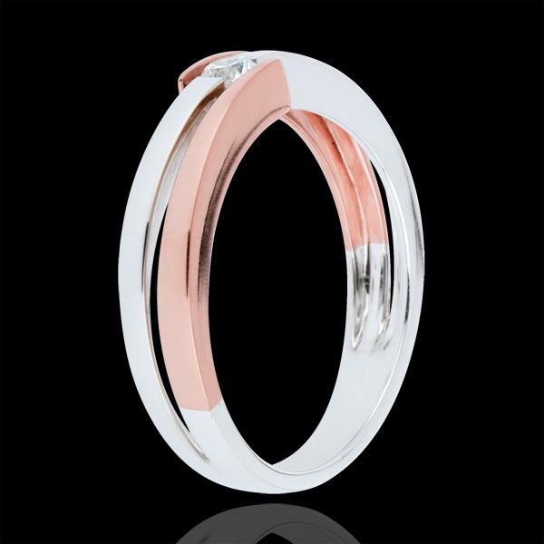 Inel Cuib Preţios - solitaire inele - 0.1 carat - aur de 18K