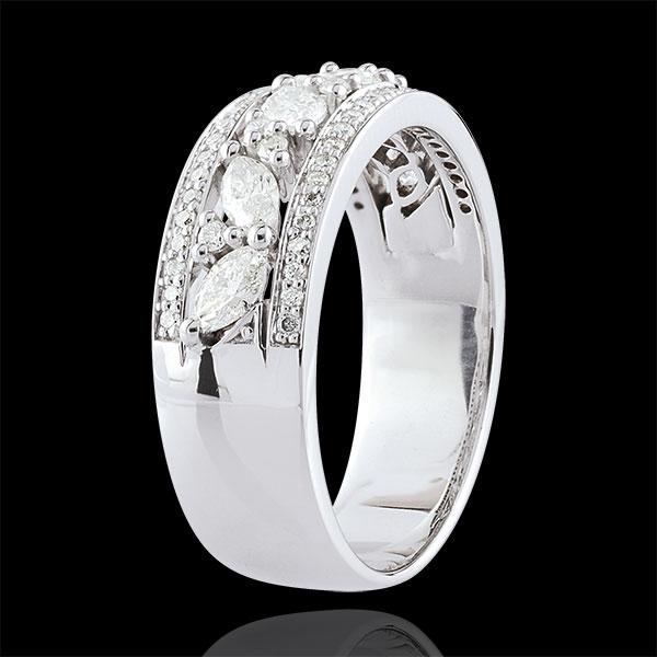 Inel Destin - Bizantin - aur alb de 18K şi diamante