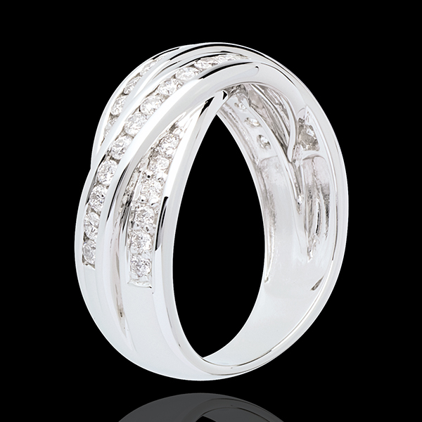 Inel Destin - diamant 0.63 carate - aur alb de 18K