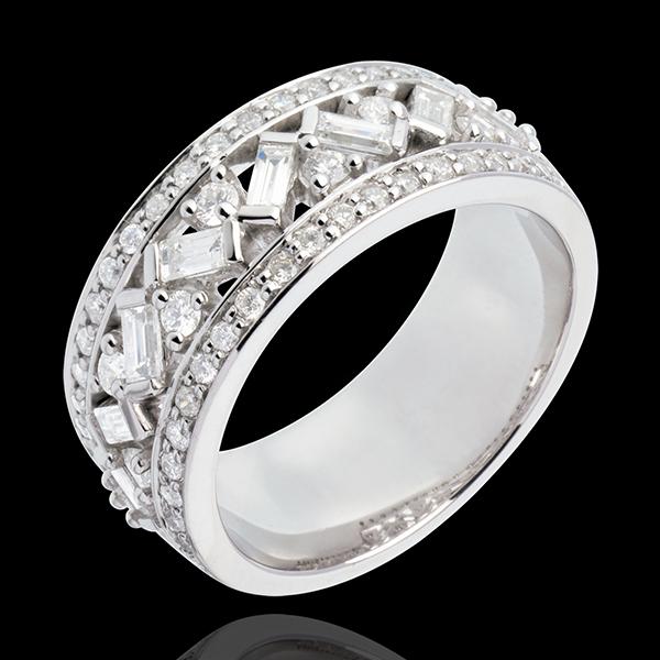 Inel Destin - Împărăteasa - aur alb şi diamante - 0.9 carate