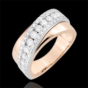 Inel Destin - Victoria - aur alb şi aur roz de 9K