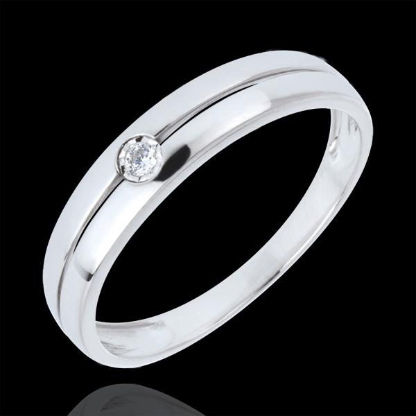 Inel Eden Pur aur alb de 18K şi diamant - diamant 0.022 carate