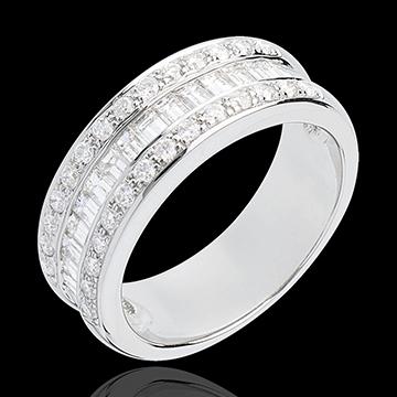 Inel Feerie - Moştenitoarea - aur alb de 18K pavat - 0.88 carate - 44 diamante
