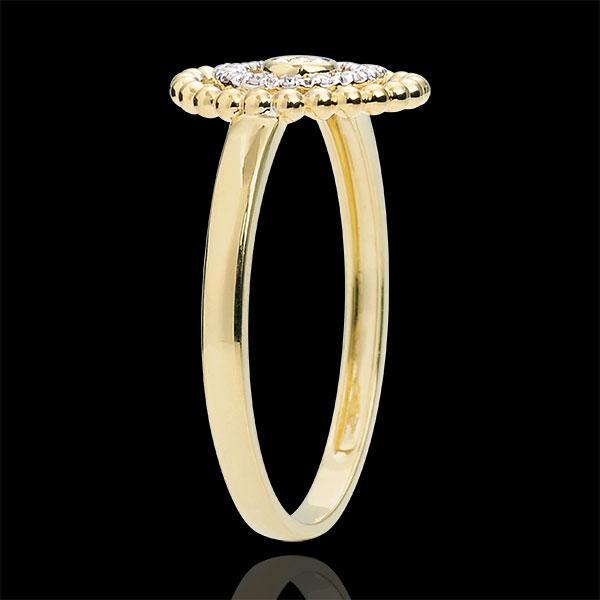 Inel Floare de Sare - cerc - aur galben de 18K