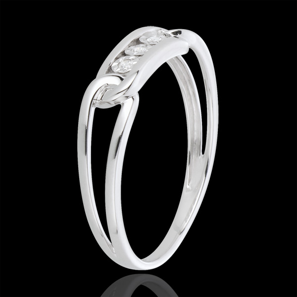 Inel Forţa Diamantelor aur alb de 18K