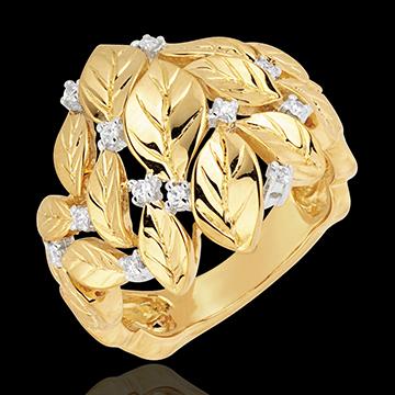 Inel Grădină Fermecată - Rouă Preţioasă - aur galben de 18K