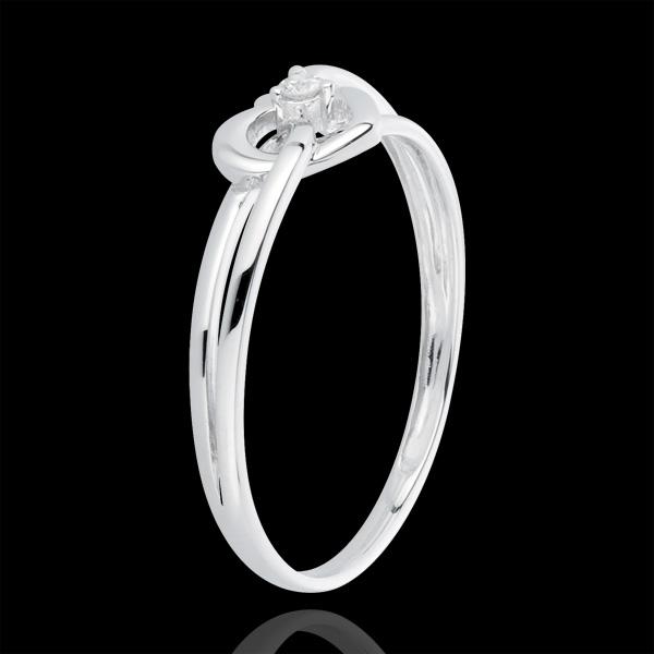Inel Iubita Mea - aur alb de 18K, diamant