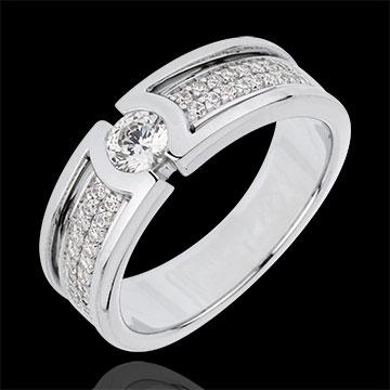Inel de logodnă Constelaţie - Diamant Solitaire - diamant 0.27 carate - aur alb de 18K
