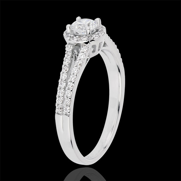 Inel de logodnă Destin - Joséphine - diamant 0.3 carate - aur alb de 18K
