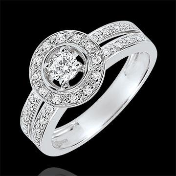 Inel de logodnă Destin - Lady - diamant 0.16 carate - aur alb de 18K