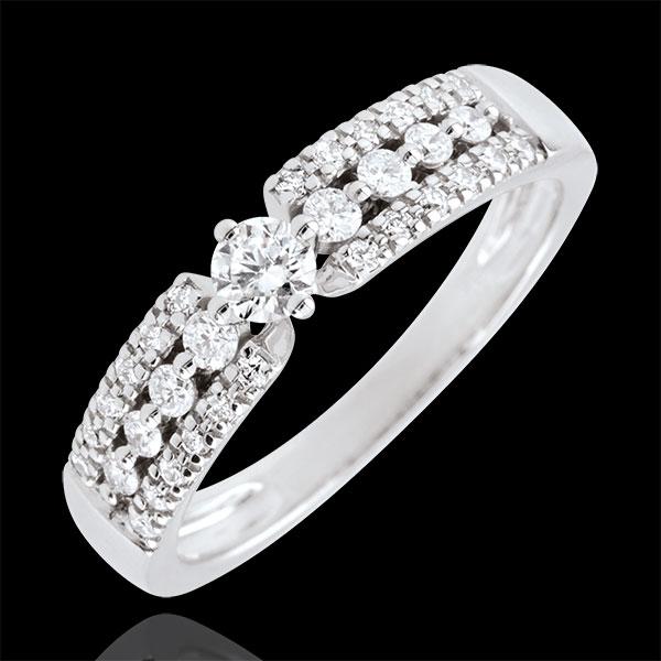 Inel de logodnă Destin - Medici - aur alb de 18K - 0.10 carate