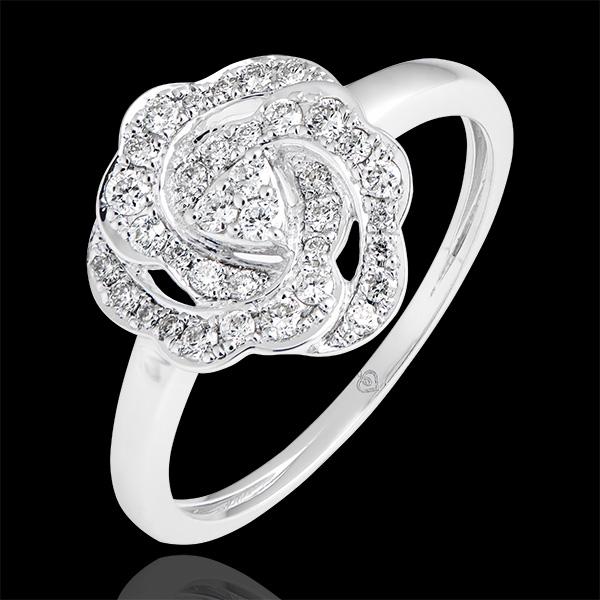 Inel de logodnă Înflorire - Nina - aur alb de 18k și diamante