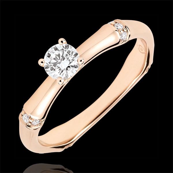 Inel de logodnă Junglă Sacră - diamant 0.2 carate - aur roz de 18K